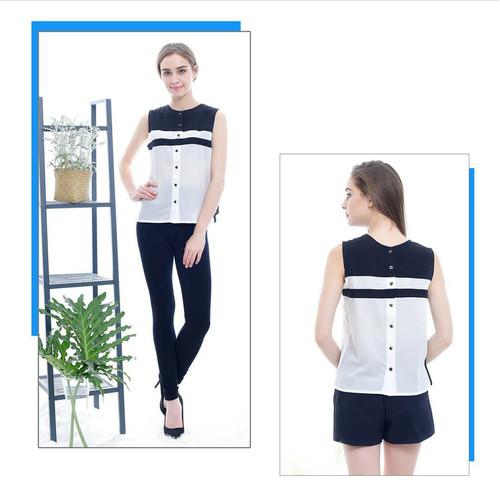 Foto Produk [Velove top VE]blouse wanita katun putih dari FASHIONISTA's GROSIR