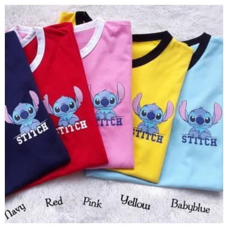 Foto Produk Baju Ringer Tee Stitch / Tshirt / Tumblr Tee / Pakaian Wanita Murah - Kuning dari Ka Moshop