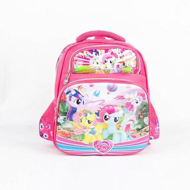 Foto Produk Ransel Karakter Anak Perempuan Motif Little Pony Ukuran 13 inch - Merah Muda dari Polo Rise
