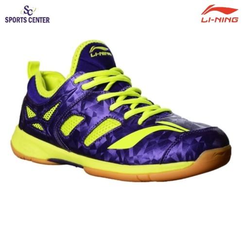 Foto Produk Clear Sale !!! Sepatu Badminton Lining Brio II AYTM091-4 Purple / Lime dari Sports Center