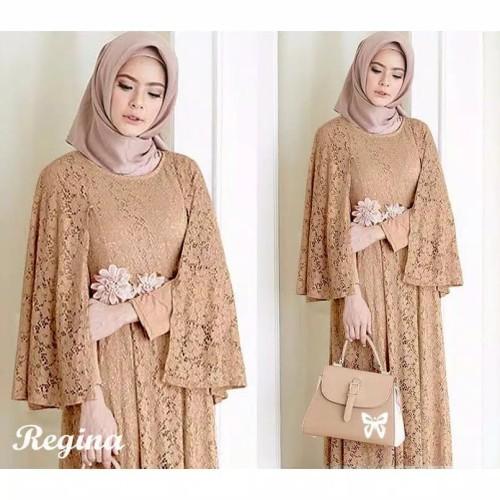 Foto Produk Kebaya Wanita Brokat Baju Dress Maxi Busana Muslim Muslimah Terbaru - Putih dari SN BINTANG