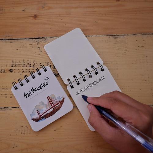 "Foto Produk Mini Note Book ""San Fransisco"" - Mini Note Book Traveling dari Jejak Dolan"