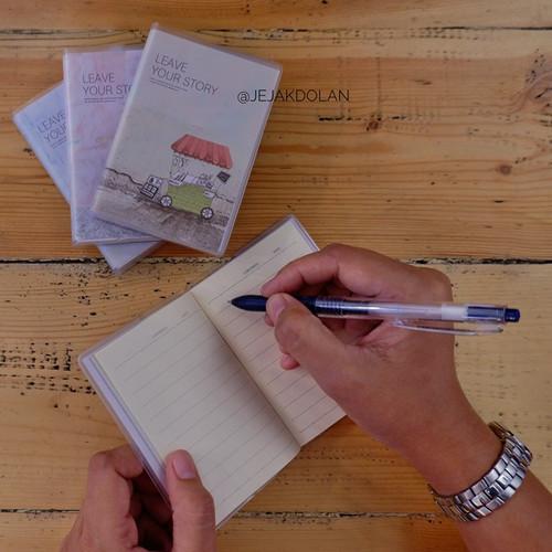 """Foto Produk Mini Note Book Bersampul """"Leave Your Story"""" dari Jejak Dolan"""