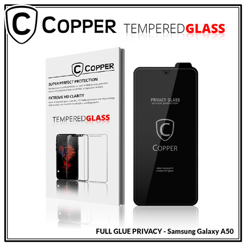 Foto Produk Samsung Galaxy A50 - COPPER Tempered Glass PRIVACY / ANTI SPY dari Copper Indonesia
