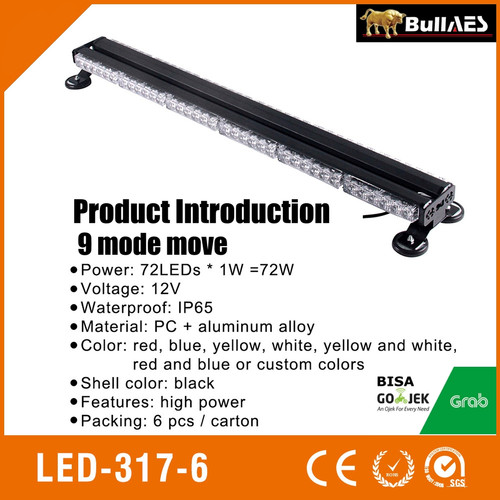 Foto Produk LAMPU LED STROBO LED BAR 2 SISI FLASHING LED BAR I Led Patwal I S.0302 - Kuning dari BULLAES