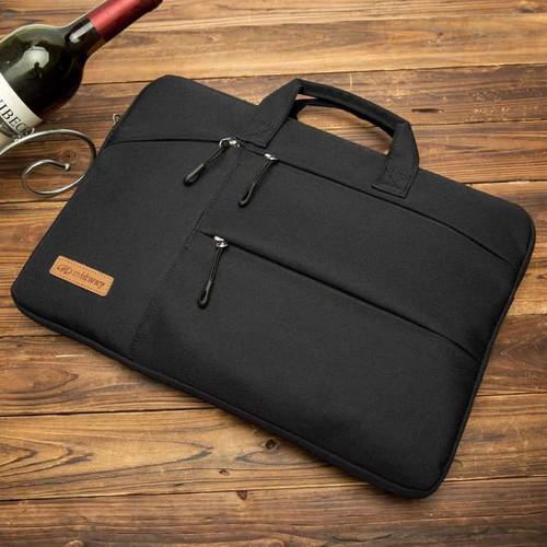 Foto Produk Tas Laptop Midway Black Multi Pocket with Hand Strap 14 inch dari Warehousegadget28
