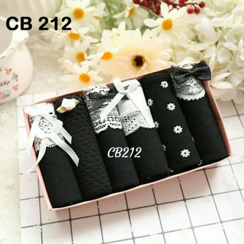 Foto Produk Celana Dalam Wanita Box Underwear Cute Korean Style 7Colourbox dari toko aza21