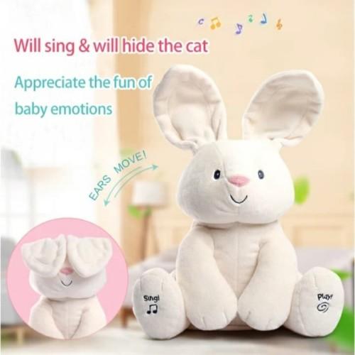Foto Produk Mainan Anak Boneka Kelinci Putih CILUKBA ~ RABBIT/BUNNY PEEK A BOO dari lovely kayy