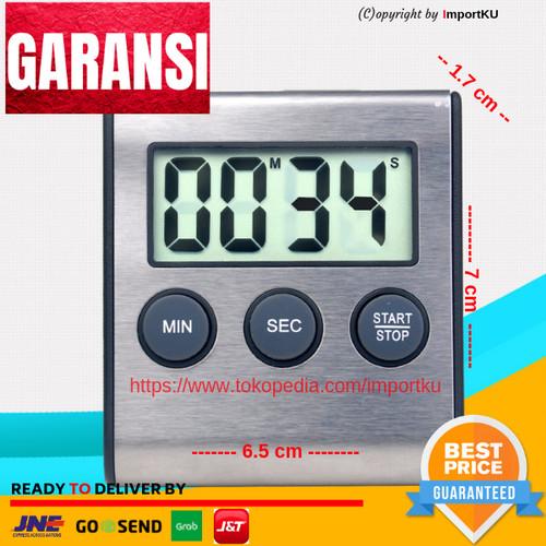 Foto Produk Digital Timer Alarm Kitchen Magnetic - Stainless Steel NEW dari Importku