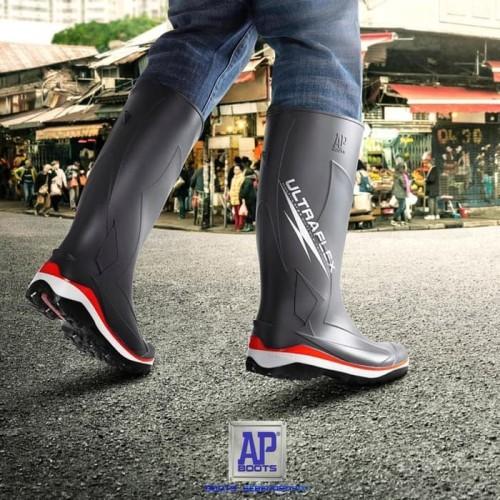 Foto Produk Sepatu boots pria wanita AP ultraflex Motor Outdoor Anti Air- AP boots dari tomyshope