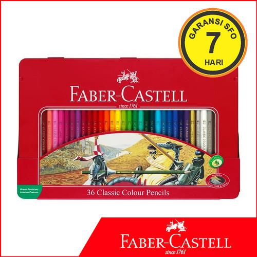 Foto Produk Pensil Warna Faber Castell Isi 36 Tin Case dari Stationery F.O.