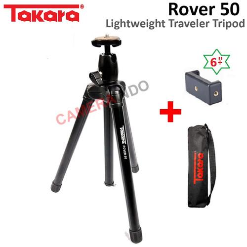 Foto Produk Tripod Takara ROVER 50 Travel Tripod with Ballhead kamera holder HP dari SMN Official