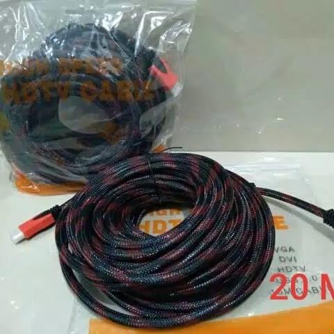 Foto Produk Kabel HDMI To HDMI 20 M Serat Jaring High Quality dari VIBOSTECH