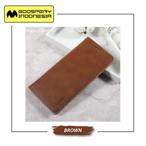 Foto Produk GOOSPERY Oppo F11 Pro Blue Moon Flip Case - Brown dari Goospery Indonesia