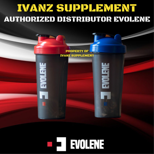Foto Produk Shaker Premium Evolene Whey Evomass Evo Mass - Biru dari IvanZ Supplement