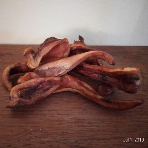 Foto Produk snack anjing/ Roasted Pork Ear Strips / Kuping Babi Panggang dari Pugs_store