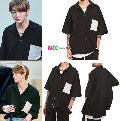Foto Produk Hyunjin straykids OTHER POCKET OVER SHIRTS BLACK dari NEC Shop Kpop