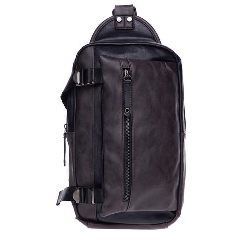 Foto Produk Urban State - Pu Buckled Zipper Small Slingbag - Black dari Urban State