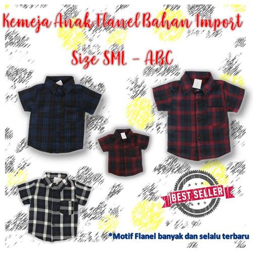 Foto Produk Kemeja Anak Bahan Flanel Import TERLARIS dari Konveksi Panda Kidswear