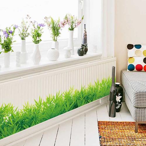 Foto Produk Stiker Wallpaper Dinding Tembok Kaca Lantai Barang Rumput Hijau Grass dari lbagstore