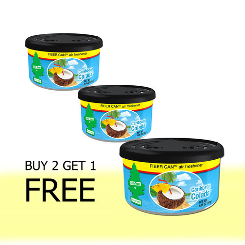 Foto Produk Buy 2 Get 1 FREE Little Trees Fiber Can Caribbean Colada dari LITTLE TREES INDONESIA