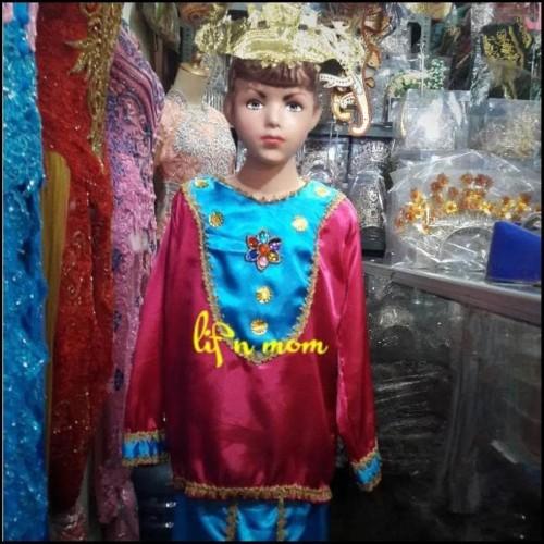 Foto Produk laris Terlaris Baju Adat Anak Banjar Perempuan Dengan Tusuk Mahkota dari tokorezvanku