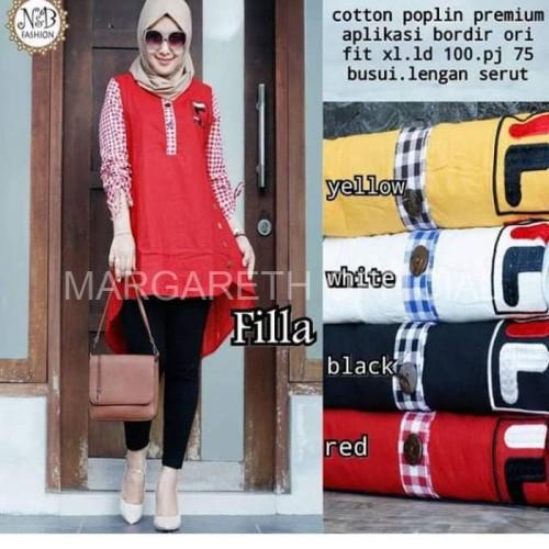 Foto Produk Baju Muslim Gamis Atasan Wanita VILA Dress Muslim Baju Murah Wanita dari Margareth Official