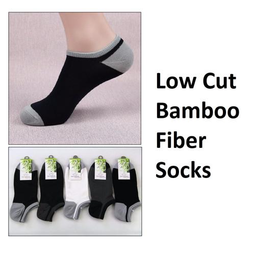 Foto Produk KK013 Kaos Kaki Pria Low Cut Bambu Fiber Socks Bamboo - BLACK dari EnnWen Online Store