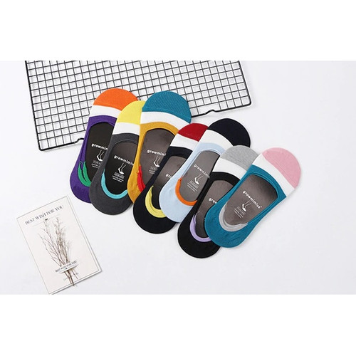 Foto Produk KK008 Kaos Kaki Pendek Colorfull Growmimius Wanita Low Socks dari EnnWen Online Store