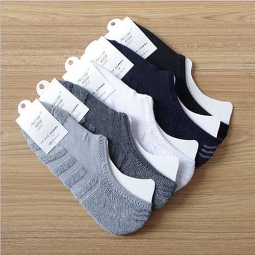 Foto Produk KK011 Kaos Kaki Handuk Tebal Hidden Socks Unisex Kaos Kaki Pendek Pria - BLACK dari EnnWen Online Store