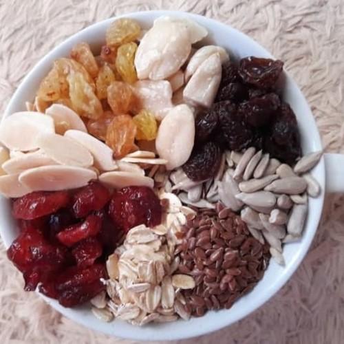 Foto Produk Cemilan Sehat. Healthy Granola MixB 500 gr (Crnbrry,almond,raisin,oat) dari Azzahra Shope