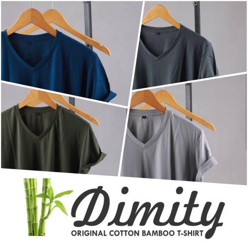 Foto Produk Kaos Polos V-NECK Katun Bambu ( Cotton Bamboo ) dari DIMITY