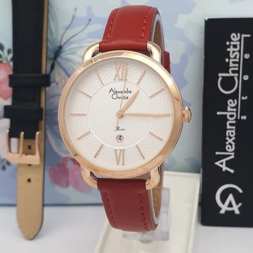 Foto Produk Jam tangan wanita Alexandre christie original AC 2674 LDRRG - Merah dari jam tangan ori n kw