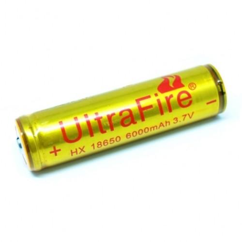 Foto Produk batre UltraFire Baterai 18650 3.7V 6000mAh Button Top dari Rajaa Elektronik