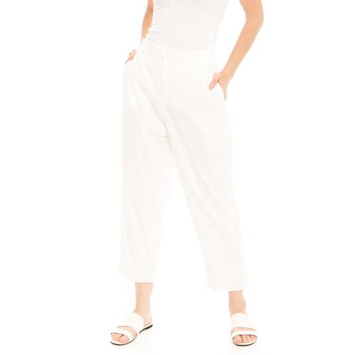 Foto Produk Kama Linen Pants in White - Beatrice Clothing Official dari Beatrice Clothing
