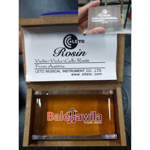 Foto Produk Rosin Biola Rosin Viola Rosin Cello Rosin Violin LETO import CLASS B dari TIPTOP MUSIK&SOUNDSYSTEM