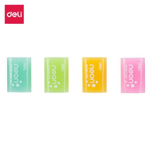 Foto Produk Deli EH01000 Eraser/Penghapus-Neon Eraser 39×27×12mm Neon dari Deli Stationery