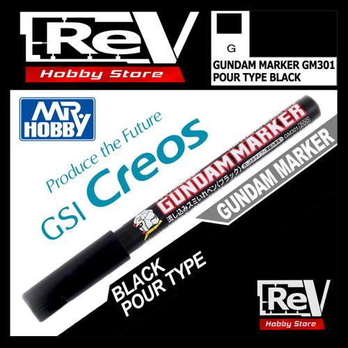 Foto Produk GUNDAM MARKER POUR TYPE BLACK GM301P dari RevHobbyStore