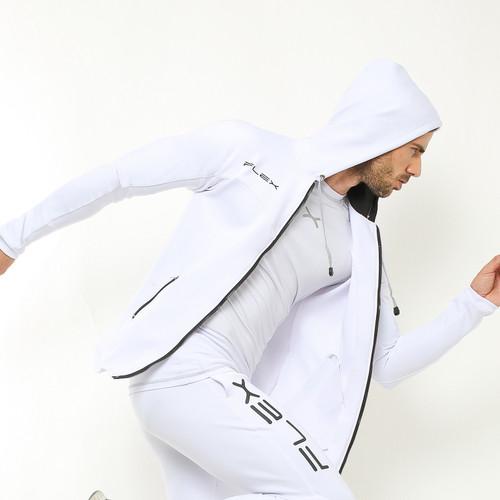 Foto Produk FLEXZONE Jaket - Putih - for Gym Running Jogging Sport FJS-002PT - M dari FLEXZONE