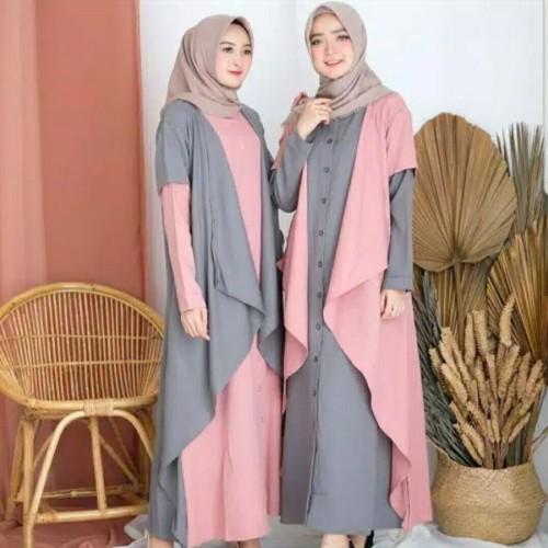 Foto Produk Busana Muslim Wanita Dress NESSA Gamis Terbaru Termurah dari Zy's Distro