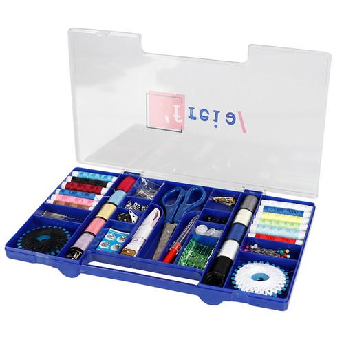 Foto Produk Sewing Kit Box Set - Tool Set Alat Jahit Menjahit Deluxe Box Biru dari Service Jaya Supply