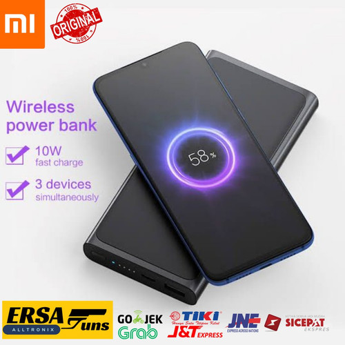 Foto Produk Wireless Power Bank Xiaomi USB 10000mAh Fast Charging Mi Powerbank dari Ersaguns