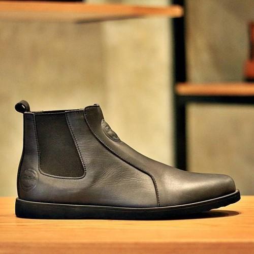 Foto Produk sepatu semi boots santai pria zapato kulit sapi hitam formal loafers dari deran outlet