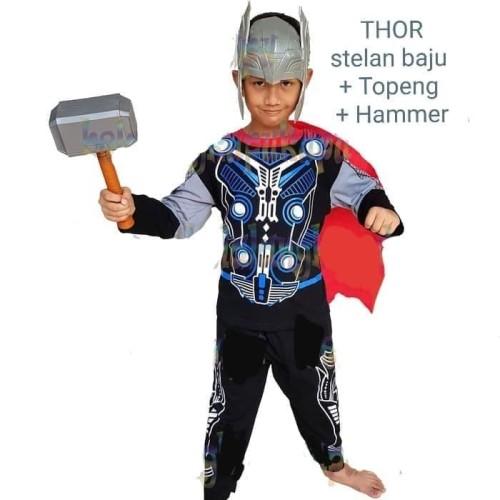 Foto Produk Baju Kostum Topeng Anak Superhero Thor Avenger Avengers - size 14 - 7 thn dari BelalangKupuKupu