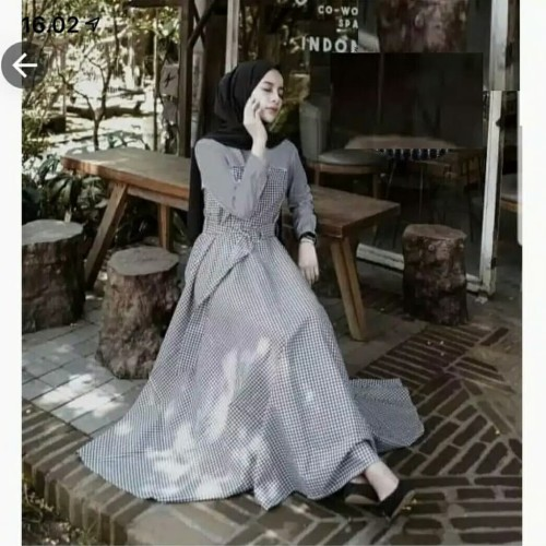 Foto Produk Pakaian Baju Busana Muslim Wanita Maxi Dress PLUMATE Termurah Terbaru dari Zy's Distro