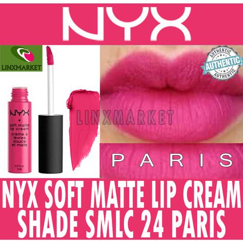 Foto Produk NYX SOFT MATTE LIP CREAM SMLC 24 PARIS HOT PINK ORIGINAL / LIPSTICK dari Linxmarket