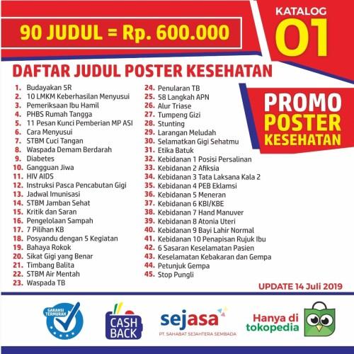 Foto Produk 86 Judul Paket Poster Kesehatan dari Syafana