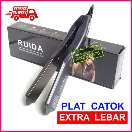 Foto Produk RUIDA PLAT CATOK EXTRA LEBAR ALAT CATOKAN RAMBUT LURUS BESAR ORIGINAL dari ANEKA 678