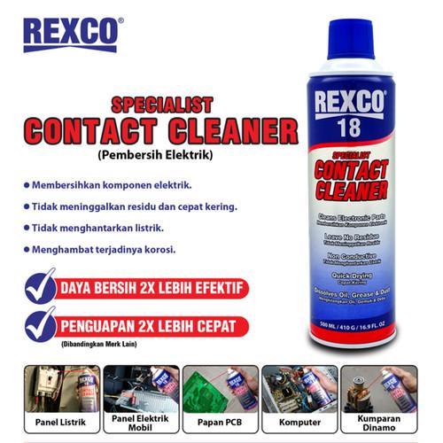 Foto Produk CONTACT CLEANER/PEMBERSIH KOMPONEN ELEKTRONIK REXCO 18 220ml dari tk terang jaya elektrik