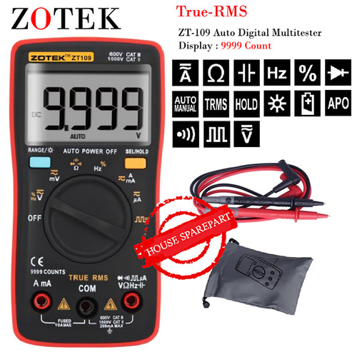 Foto Produk AVOMETER DIGITAL ZOTEK ZT109 / MULTITESTER DIGITAL ZT109 ORIGINAL dari HOUSE SPAREPART